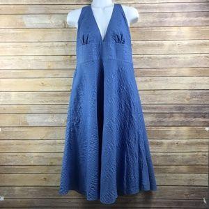 J. Crew Textured Halter Dress - Flawed (NW4)